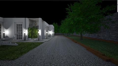 Home at night - Garden  - by lovasemoke
