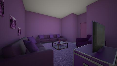 SalaRoxa - Retro - Living room - by KauaneVasconcelos