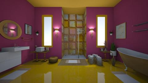 Raspberry Gold - Glamour - Bathroom  - by Irishrose58