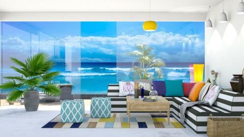 Beach House - Retro - Living room  - by Uroosa Bint E Haroon