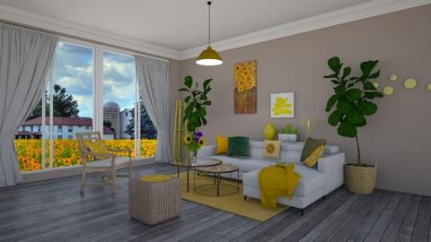 Shine like a sunflower - Classic - Living room  - by Dragana2212