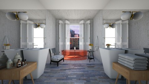 Long Bathroom - Modern - Bathroom  - by 3rdfloor