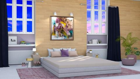 Pink and Purple - Bedroom  - by seth96