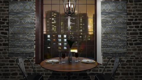 City View Date - Rustic - Dining room - by Its_Liz