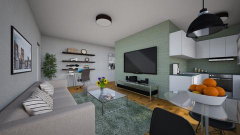 For annarmengou94_Apt B - Eclectic - Living room - by Theadora