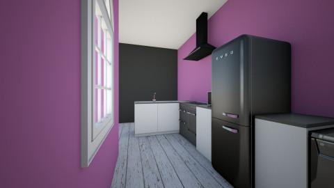 Kitchen in Black - Kitchen - by Wendy Broyles