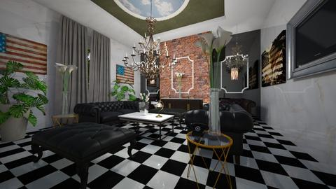 American_Embassy_Interior - Classic - Living room  - by Nikos Tsokos