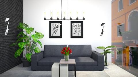 Black and White - Living room  - by Meghan White