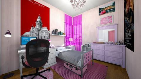 Pink Princess - Bedroom - by SammyJPili