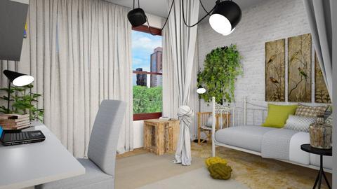My bedroom _edited_ - Minimal - Bedroom  - by chania