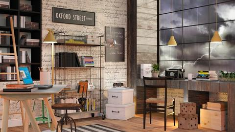 Stormy day Office - Eclectic - Office  - by Sally Simpson