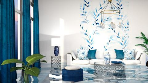 Flooded blue  - Living room  - by itsbinflooded