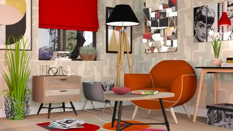 Mid Century Livingroom - Modern - Living room - by Sally Simpson