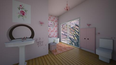 Cherry Blossom Bathroom - Bathroom  - by Hamzah luvs cats