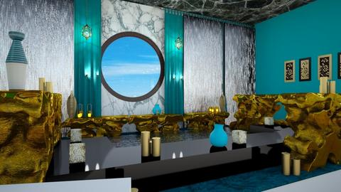 Turquoise Metal Bath - Bathroom - by Gab71892