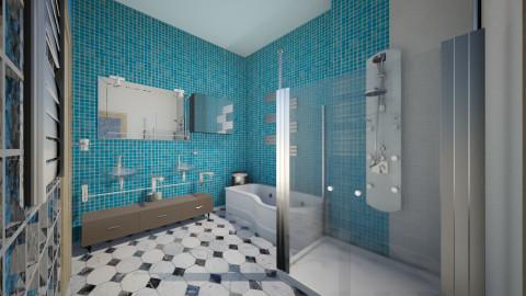 Van der Valk glass 3 - Modern - Bathroom  - by Moonpearl