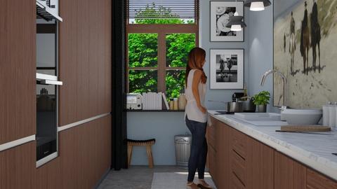 Narrow Kitchen - Modern - Kitchen - by HenkRetro1960