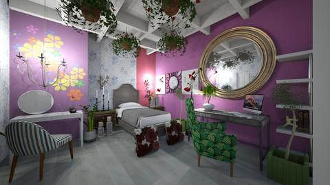 Girl_Room_Multi_Color_Interior - Classic - Bedroom  - by Nikos Tsokos