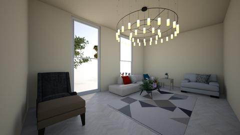living in cream - Modern - Living room  - by Pizzahomestyler