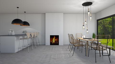 New Scandinavian dining - Kitchen  - by Ontwerpstudio34