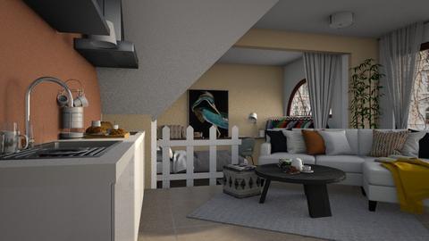 CheapHouse - Living room  - by Ebru Tekneci