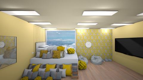 yellow teen bedroom  - Bedroom  - by Ellanaxo