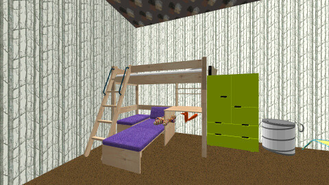 Boy Camouflage Room - Rustic - Kids room  - by Mikki Rose
