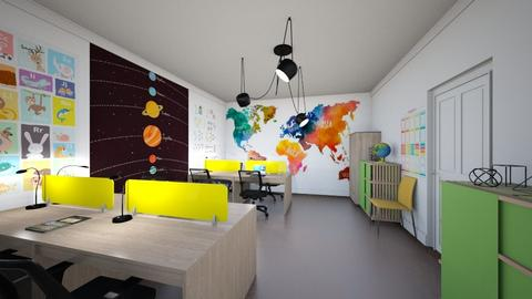 Modern country house4 - Office  - by AleksandraZaworska98