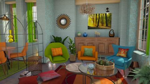Three armchairs in corner - Living room  - by Moonpearl