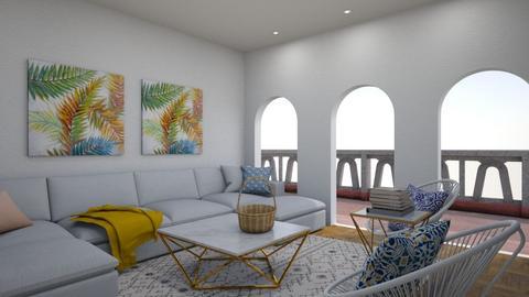 Modern Greek living  - Living room  - by Doraisthe_nameofmydoggo12345