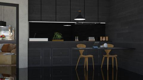 Black and Caramel - Modern - Kitchen  - by Claudia Correia