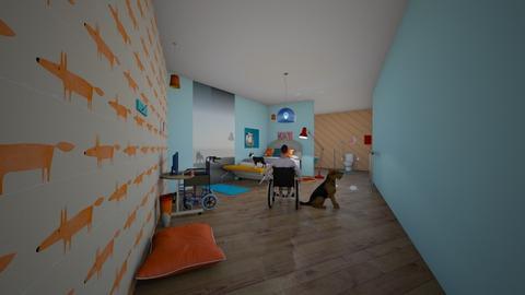 wheelchair bedroom teen - Bedroom  - by goldenfang11