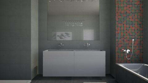 Concreto Banheiro - Bathroom  - by Sanare Sousa