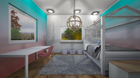 ombre bedroom - Bedroom  - by tessmcquillan