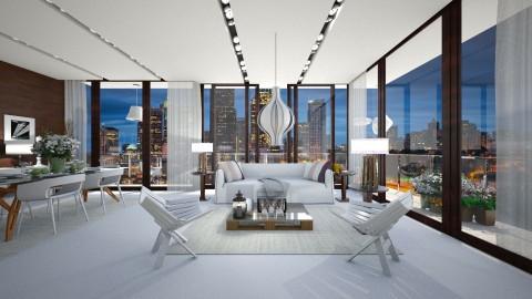white n wood 2 - Modern - Living room  - by Evangeline_The_Unicorn