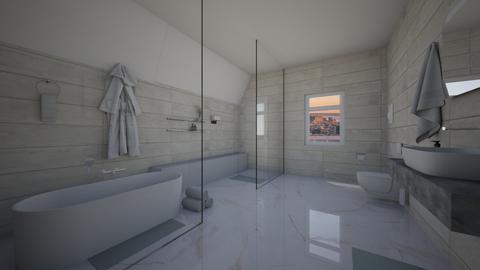 Marble Bathroom - Minimal - Bathroom  - by MiDesign