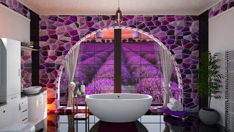 Lavender bathroom - by ilcsi1860