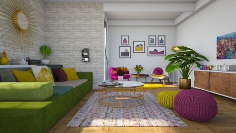 maximalist living room - Living room - by miadesign