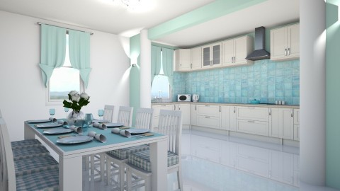 Aqua - Kitchen  - by creato