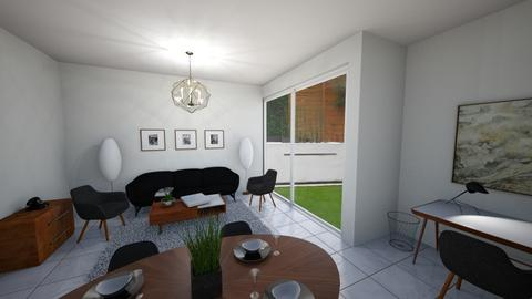 Mid Century - Retro - Living room  - by GylfiThorSigurdsson
