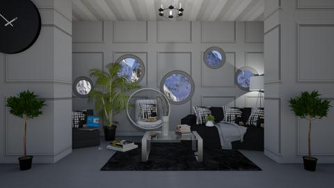 For Almanzo_Grey Chill - Living room  - by Khayla Simpson