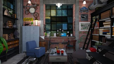 factory basement office - by Teri Dawn