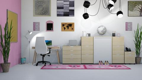 Pink Office - Modern - Office  - by millerfam