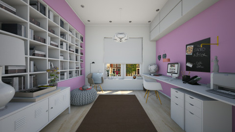 femenine office - Modern - Office  - by Evangeline_The_Unicorn