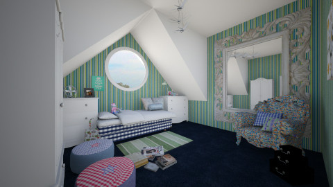 hastens attic room - Classic - Bedroom - by donella