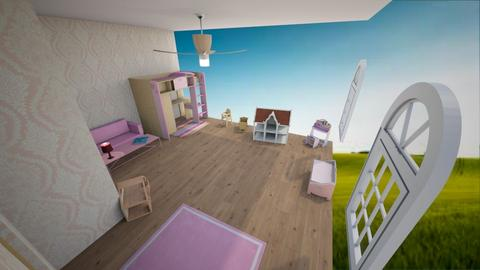 Pink Kids Room - Kids room  - by 90z p0ptart