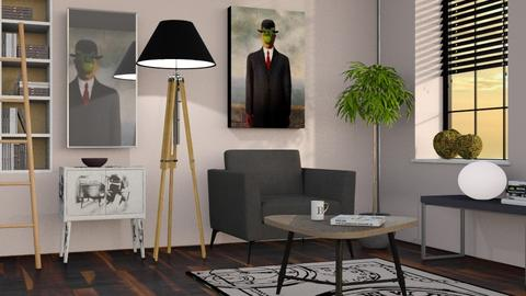 Magritte Inspired - Minimal - Living room  - by Sally Simpson