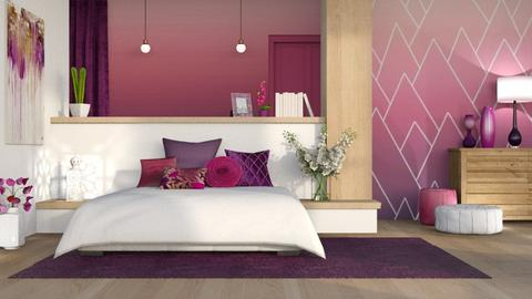 Pink and Purple - Bedroom  - by LB1981
