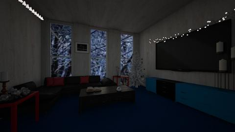 Template room - Living room - by melikesanime