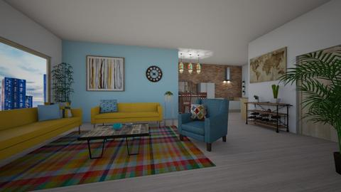 city loft - Vintage - Living room  - by weny